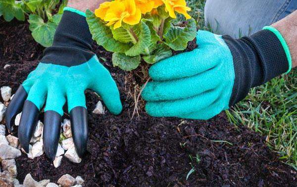 garden glove claw