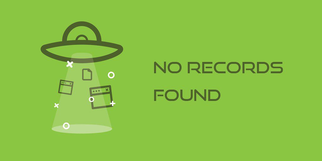 no records found